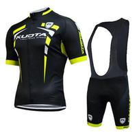 Wholesale Kuota Clothing - Kuota pro summer Cycling Jersey bib shorts set Bicycle Breathable ciclismo sportwear clothes Bike Clothing Lycra MTB E0403