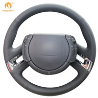 Wholesale Picasso C4 - Mewant Black Genuine Leather Steering Wheel Cover for Citroen C4 Picasso 2007-2013