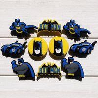 Wholesale batman decorations - 50pcs Batman PVC Shoe Charms Ornaments Buckles Fit for Shoes & Bracelets ,Charm Decoration,Shoe Accessories Party Gift Free Shipping
