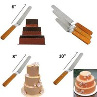 Wholesale Easy Cake Decorating - Wholesale- Professional Cake Icing Spatula Decorating Smooth Filling Flat Blade For Easy Kitchen Tool 6 8 10 Inch