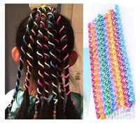 Wholesale Babies Hair Accesories - 6 Pcs Set Kids Curler Hair Braid Hair Sticker Baby Girls' Decor Hair Accesories