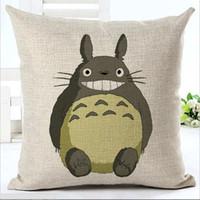Wholesale totoro pillows online - Anime chinchilla Totoro pillow Cases Cushion Cover Pillowcase Linen Cotton Home Soft Square Throw Pillow Case Christmas gift