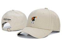 Wholesale Retro Snapback Hats - 2017 New fashion Retro Bear dad hat bone Curved visor Casquette baseball Cap women gorras polo hats for men hip hop Snapback Caps