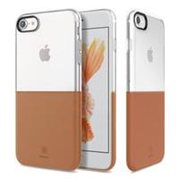 Wholesale Baseus Iphone Case - Original Baseus Half to Half Series Double Color TPU PC 2 in 1 Case for iPhone 7 7Plus Soft Hard Back Cover