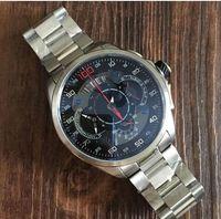 Wholesale 48mm Quartz - AAAquali Men Luxury Brand Fly Watch 48mm Mercedes SLS Stopwatch Chronograph Quartz Wristwatch High Quality Rubber Strap Original Sport Watch