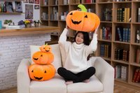 Wholesale 12cm Baby Dolls - Halloween Toys Party 18*12cm Pumpkin Plush Dolls Cushion Pillow Stuffed Decoration Pumpkin Soft Kawaii Baby Toy children kid Christmas Gifts