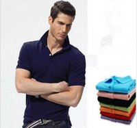 Wholesale Mens Wholesale Polo - Big Size S-6XL Polo Shirt Men Small Horse Camisa Solid Short Sleeve Summer Casual Camisas Polo Mens Free Shipping