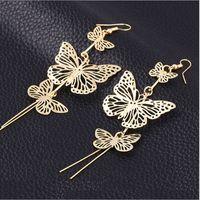 Wholesale Earring Korea Design - earrings for girls gold designs girls price mother bride teen for women simple korea women jewelry wholesale Rock club teens Vara butterfly