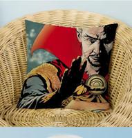 capas de almofadas de cinema venda por atacado-Hotel do partido Doutor Estranho Filme Fronhas Lance Fronhas Capa de Almofada 45 * 45 cm Quadrado de Linho de Algodão Praça Fronha sofá Em Casa