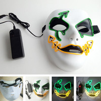Máscaras de luz conduzidas na noite da moda 3 modelos Máscara intermitente Fancy Neon Led Strip Máscara grotesca para Carnaval Halloween Party Bar Club Street Dance