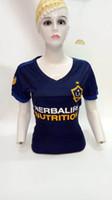 Wholesale Galaxy Women Top - 17 18 women Major League GIOVANI LA Galaxy Soccer jersey 2018 JONES ZARDES LLETGET women soccer shirt top thai quaily Football shirts