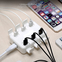 Wholesale Mini Power Station - 2017 New Portable 6 Port USB Charger Station Usb Hub Board Power Adapter for iPhone 6 6s Plus iPad Pro Mini Samsung S7