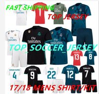 Wholesale 2018 Real Madrid Home Third Soccer Jersey KIT Away soccer shirt Ronaldo Bale Football uniforms Asensio SERGIO MODRIC RAMOS sales
