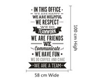"Wholesale Team Wall - In This Office Quote Sticker Office Rules Vinyl Decals "" We Are A Team"" Increase Team Cohesion 3D Decal Office Home Decor"