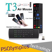 Mais novo modelo de teclado com microfone sem fio T3 Fly Air com micro controle remoto T3 para Android TV Box Media Player Better Than MX3 X8