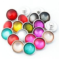 Wholesale Diy Ring Gems - 2017 colorful gem DIY Noosa Button 12mm Alloy+Opal+Glass Snap buttons jewelry Accessories for Bracelets Rings Pendants