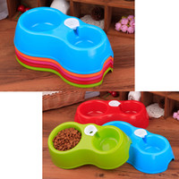 Dual Port Dog automatico erogatore dell'acqua alimentatore per casa Bowl Cat potabile Piatto Fontana Pet Food Bowl (5 colori)
