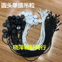 Wholesale Plastic Hangtag - in stock Good quality plastic one side head in apparel,hang tag strings cord for garment,stringing price hangtag 1000pcs lot