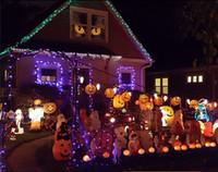 ingrosso le luci di zucca di halloween delle stringhe-Fiamma a LED a batteria a batteria Lights 3D Pumpkin 20 LEDs Luce decorativa Halloween