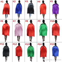 Wholesale Adult Holiday Costumes - 15 Styles 110*70cm Adult Capes Double-deck Costume Cape Superhero Cape for Big Kids Christmas Halloween Cosplay Prop Costumes Free Shipping