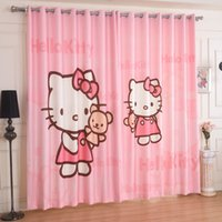 Wholesale Grommet Linen Curtains - Pink velvet curtain finished wire netting children room linen green shading short wave window curtain fall to the ground