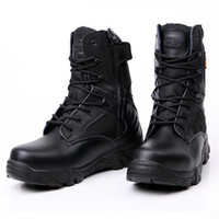 Wholesale 2016 Black Winter Mens Outdoor Delta Tactical Military Boots Special Forces High help Desert Botas Safety Working Hiking Shoes