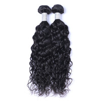 Wholesale 18 inch human hair wefts for sale - Group buy Brazilian Virgin Human Hair Natural Water Wave Unprocessed Remy Hair Weaves Double Wefts g Bundle bundle Can be Dyed Bleached