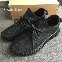 Kanye West 350 Boost Sneakers Pirate Black Green Suede Oxford Tan Men Running Chaussures de sport Bottes (Keychain + Chaussettes + Sac + Réception + Boîte)