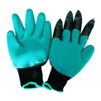 Wholesale garden hand tools online - Creative Garden Genie Gloves Five Fingers With Claws Digging Rose Planting Glove Without Other Tools Rinses Clean Keep Hands Dry fh R