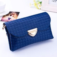 Wholesale Wholesale Womens Designer Bags - Wholesale-Excellent Quality New Designer Womens Messenger Bags Leather Small Crossbody Shoulder Bags Women Blue Casual Bag Dollar Price