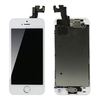 Para Apple Iphone 5S LCD Screen Glass Replacement Digitizer Assembly + Front Camera Full Set Montado BlackWhite Wholesale