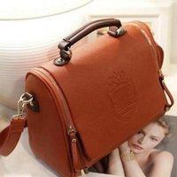 Wholesale British Satchel - Wholesale- 2016 New Handbag British Double Crown Bag Fashion Handbag Portable Shoulder Satchel Women Messenger Bags Women Bag Handbags