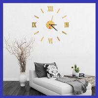 Wholesale Antique Wall Murals - Wholesale- 2016 hot sale wall clock large decorative wall clocks home decor diy clocks living room reloj mural wall sticker free shipping