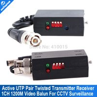 Wholesale Active Video Receiver - A Pair 1200m 1CH Active Twisted Pair Transmitter Receiver Video Balun
