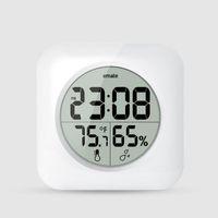 Wholesale Wall Clock Led Fashion - Emate Fashion Waterproof Shower Time Watch Digital Bathroom Kitchen Wall Clock Silver Big Temperature and Humidity Display ZA2895