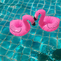Commercio all'ingrosso Mini Cute Pink Flamingo galleggiante Drink gonfiabile può Giocattolo Piscina Beach Party bambini Holder