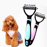 Wholesale Dematting Tools - 2017 newest Professional Pet Dog Cat Hair Grooming Undercoat Rake Comb Mat Breaker Dematting Tool pet brush