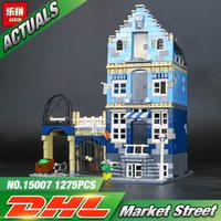 DHL Lepin 15007 Factory City Street Mercato Europeo Modello Building Block Set Mattoni Kit FAI DA TE Compatibile 10190