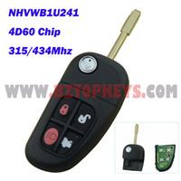 Wholesale Chip Keys Auto - J0010B Auto Remote Car Key FO21 Key blade 315 434Mhz 4D60 chip for NHVWB1U241 Jaguar x type s type Flip remote head Key