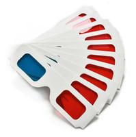 peliculas 3d cian rojo al por mayor-Gafas de papel 3D Red Blue Cyan Paper Card gafas de anáglifo 3D ofrece un sentido de la realidad Movie DVD para mujeres hombres DHL