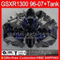 carenados de hayabusa negro azul al por mayor-8 regalos 23 colores para SUZUKI Hayabusa GSXR1300 96 07 2002 2003 2004 15NO44 negro azul GSX R1300 GSXR-1300 GSXR 1300 2005 2006 2007 Fairing