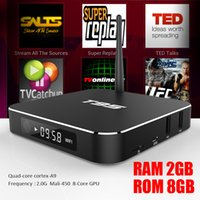 Wholesale Quad Band Wifi Dual - T95 2GB RAM Android 6.0 TV Box Amlogic S905X Quad Core Dual Band WIFI Full Loaded 4K Streaming Media Player