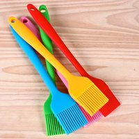 Wholesale silicone bbq resale online - Small Size Silicone Oil Brush High Temperature Resistant Barbecue Seasoning Brush Multicolor DIY Cake BBQ Tool