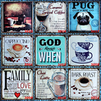 Wholesale art license for sale - Caramel Coffee Metal Tin Sign Dark Roast X30 CM Tin Poster Dogs License Plate Tuba Iron Painting For Home jkN