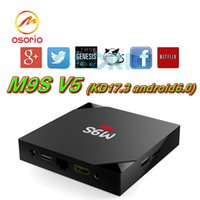 Wholesale Cheapest 3d Movies - 2017 Cheapest M9S V5 Android6.0 TV Box Rockchip RK3229 Smart Boxes 4K Quad core 17.3 version Full Loaded support 3D Free Movies Online