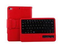 ipad mini ledertastatur großhandel-Mode luxus aus echtem leder buch case für ipad mini 4 mit bluetooth tastatur schutz stehen flip abdeckung fällen für ipad mini4 tablet pc