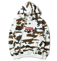 Wholesale Sweatshirt Super - Newest Fashion Super Long Sleeve camo Hoodie hoody Sweatshirt Hiphop Hoodies Men Pullovers Europe America Fashion Trends Season Clothing