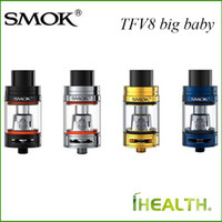 Wholesale Electronics Cigarett - Smok TFV8 Big Baby Tank 5ml Adjustable Airflow Top Filling Electronic Cigarett Atomizer Best Match 200W SMOK G-priv Mod fast shipping