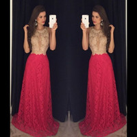 Discount long mermaid full train prom dress - 2017 Newest Full Lace Evening Dresses Mermaid Keyhole Neck Halter Sweep Train Long Prom Party Gowns Custom Made Robe de soriee