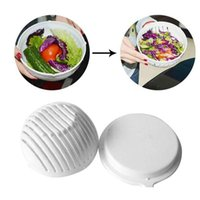 Wholesale Wholesale Salad Bowls - 60 Second Salad Cutter Bowl Easy Salad Fruit Vegetable Washer And Cutter Salad Bowl Cutter Strainer Retail box